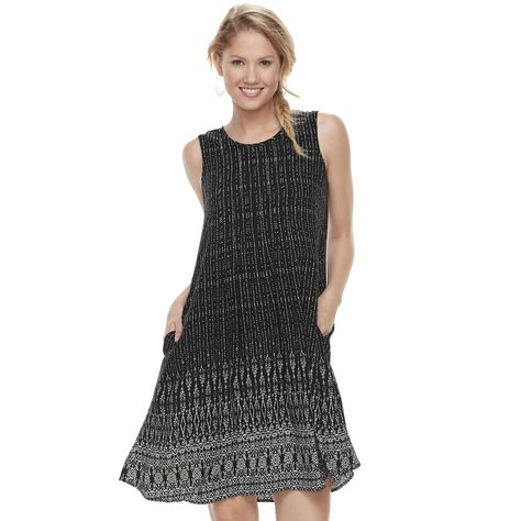 75d1e104bd5 Petite SONOMA Goods for Life™ Pintuck Challis Shift Dress in 2018 ...