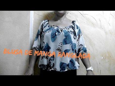 326b8ae85 DIY.BLUSA MANGA RANGLADA - YouTube