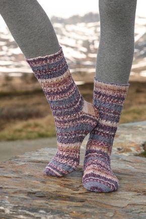 strikkeopskrift på sokker