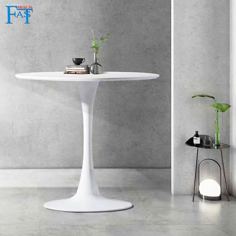 Dining Table White Paint Table On Metal Base Kitchen Table Round Table Modern Table Free Delievry For Russia In 2020 Dining Table Modern Table Modern Round Kitchen