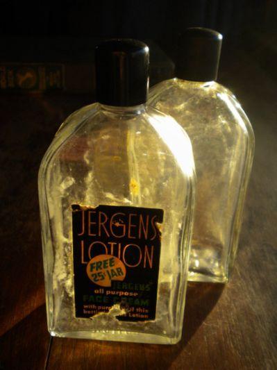 Vintage Jergens Lotion Glass Bottle