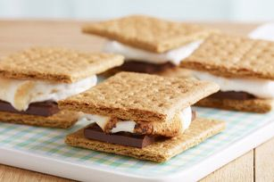 Classic S'mores recipe with microwave oven directions for year round enjoyment! Everyone loves s'mores!