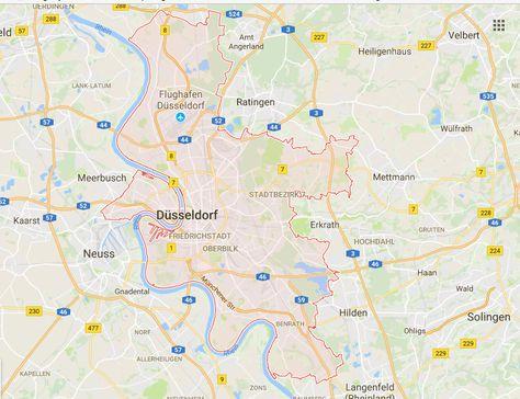 Nrw Karte Ubersicht Landeshauptstadt Dusseldorf