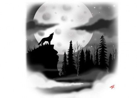 51 Trendy Tattoo Wolf Forest Life Wolf And Moon Tattoo Silhouette Tattoos Forest Tattoos
