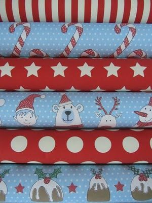 Christmas wrap from dots and spots