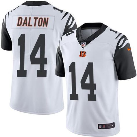 nike bengals 14 andy dalton white youth stitched nfl limited rush jersey and broncos emmanuel sanders