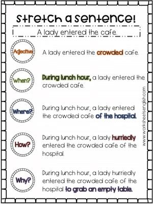 Expand Sentences Worksheets Free Www Worksheetsenglish Com Writing Sentences Worksheets Sentence Anchor Chart Sentence Activities Sentence stretching worksheets