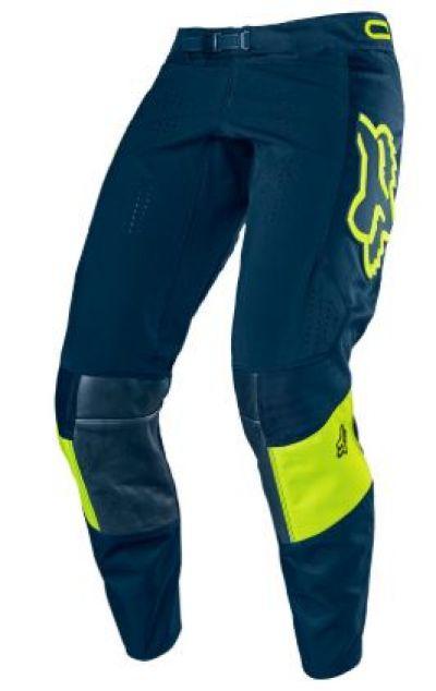 Pantalon Fox 360 Bann Azul Amarillo Camisetas Deportivas Pantalones Trajes De Motocross