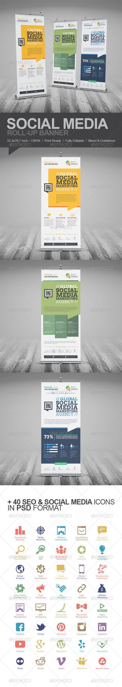 Social Media Marketing Roll-Up Banner