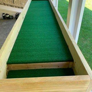 Outdoor Carpet Ball Table Also Called Gutter Ball In 2020 Outdoor Carpet Diy Pool Table Diy Playground