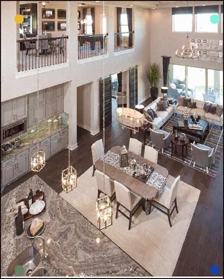 A Bird S Eye View Of This Open Floor Plan Designed By Five Star Interiors Living Room Furniture Layout Dream House Ideas Kitchens Modern Floor Plans