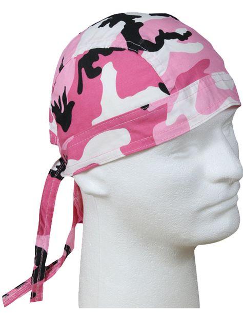 Pink Black White Combo Paisley Rainbow Durag Doo Rag Biker Head Wrap Sweatband