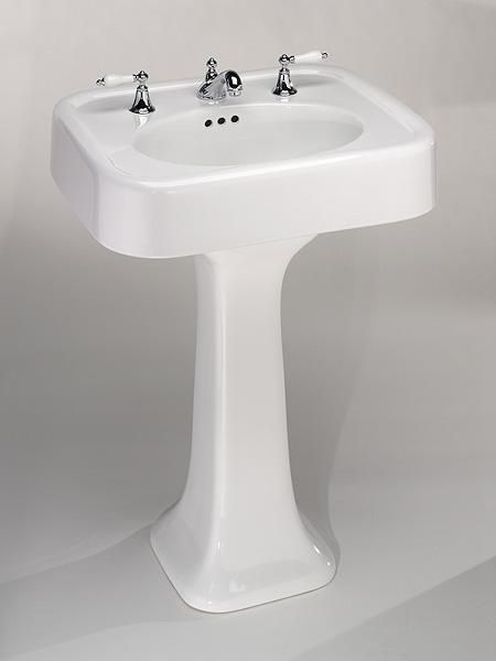 The Classic Pedestal Sink Works Equally Well In Modern Rustic Or