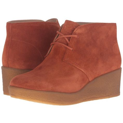 eaf6908b655 Clarks Athie Terra (Rust Vintage Suede) Women s Lace-up Boots ( 150) ❤  liked on Polyvore featuring shoes