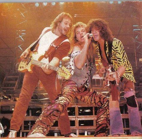 Eddie Van Halen, Michael Anthony and David Lee Roth 1984