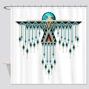 Southwest Native Style Thunderbird Shower Curtain Fabric Decor