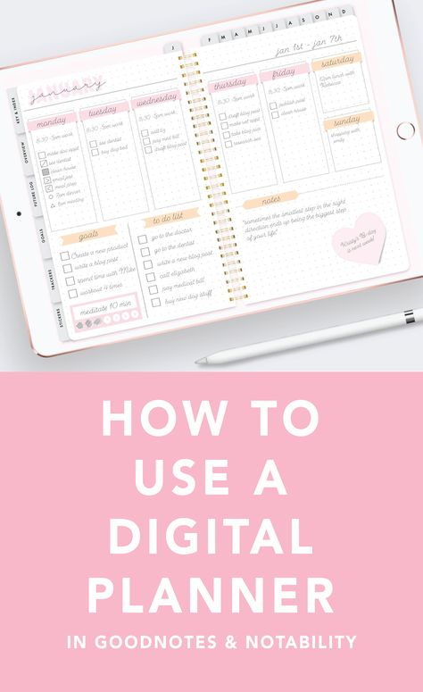 How to use a Digital Planner for the iPad Pro