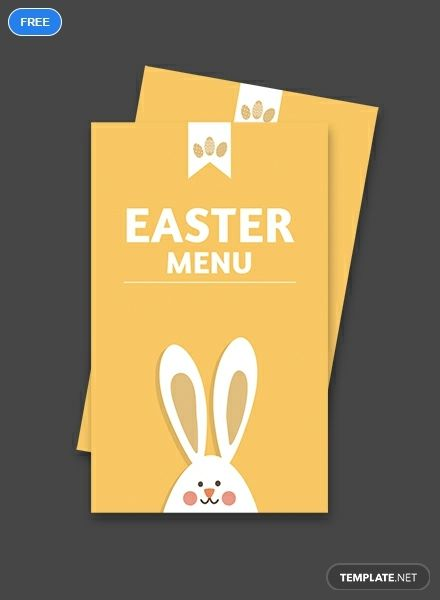 Free Easter Menu Card Template Word Doc Psd Apple Mac Pages Illustrator Publisher Menu Card Template Easter Menu Menu Cards