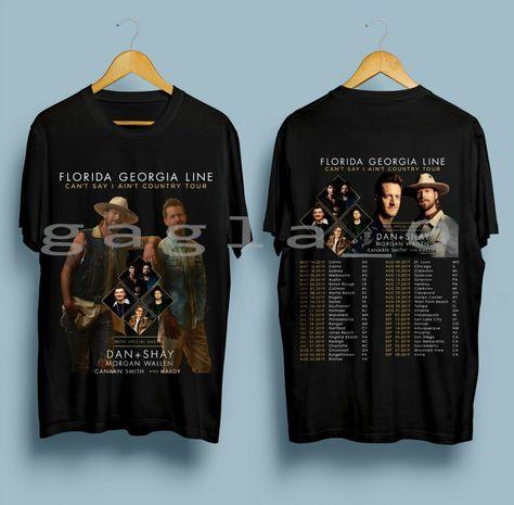 New Florida Georgia Line Can T Say I Ain T Country Tour 2019 Black Tshirt Ebay Florida Georgia Line Florida Georgia The Smiths T Shirt