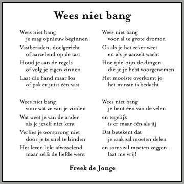 """""""Wees niet bang"""" - prachtige voordracht uit eigen werk 27-11-14 FreekdeJonge bij #Nlkantelt Boekpresentatie Jan Rotmans"""