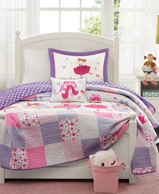 Twirling Tutu 3 Pc Twin Coverlet Set Quilt Sets Bed Bed In A Bag