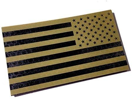 Usa Reversed 3 5x2 Inch Infrared Coyote Brown Ir Reflective Us Flag Patch Us Army Special Forces Green Beret Cag Flag Patches Green Beret Patches