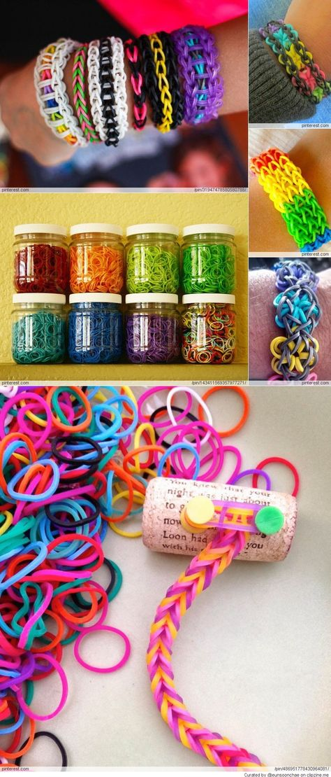 Amazing Rainbow Loom Ideas - not for me. no. for my nieces. yes of course.
