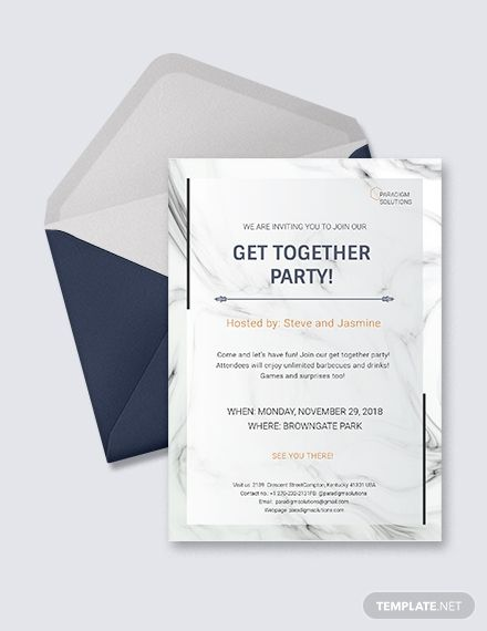 Get Together Invitation Template Free Pdf Word Psd Apple Pages Google Docs Illustrator Publisher Family Reunion Invitations Templates Creative Invitations Event Invitation Templates