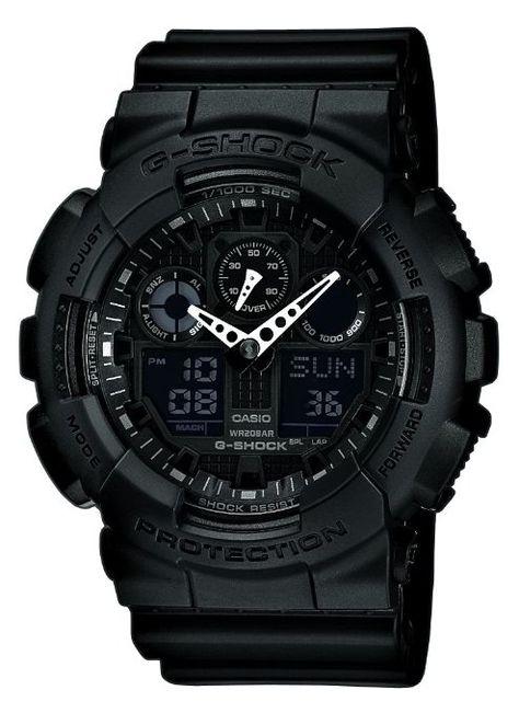 Casio - GA-100-1A1ER - G-shock - Montre Homme - Quartz Analogique et Digitale - Cadran Noir - Bracelet en Résine Noir: Amazon.fr: Montres