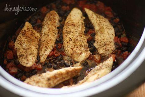 Slow Cooker Chicken Black Bean Tacos   Skinnytaste