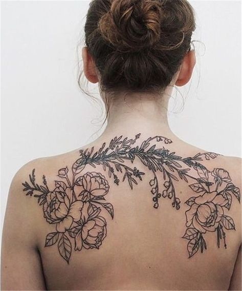 Best Tattoos On The Back That Will Make You Look Stunning; Back Tattoos; Tattoos On The Back; Simple Tattoos; Back tattoos of a woman; Ribbon tattoos; Flower tattoos; Cross tattoos; Little prince tattoos; Symbol tattoo; Pattern tattoos;