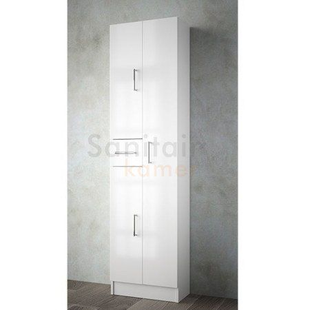 Badkamerkast Hoogglans Wit.Muebles Auxi Badkamerkast Hoogglans Wit 180x48x24cm 3 Deuren