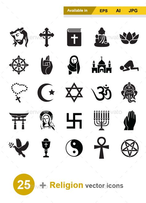 Religion Vector Icons by naripuru Religion vector icons Attached ZIP folder contains: �20EPS 10 (easily resize) �20AI 10 (easily resize) �20JPG image has high reso