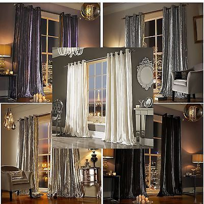 Details About Kylie Minogue Iliana Designer Eyelet Velvet Ring Top Velour Lined Curtains Lined Curtains Home Curtains Kylie Minogue At Home