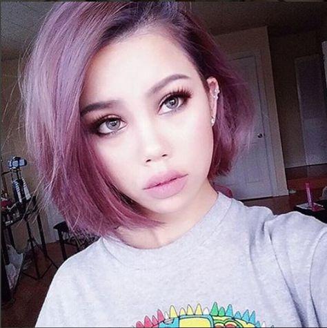 Smokey pink Mauve Hair Dye