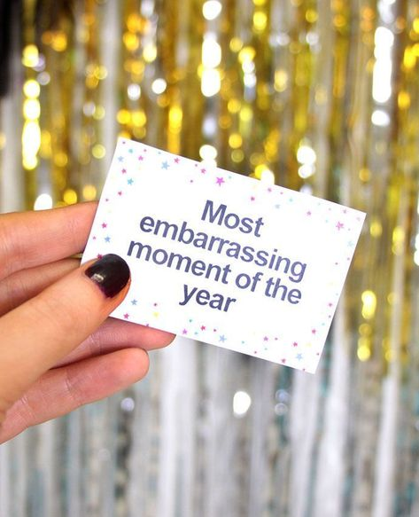 Download our free printable New Year's Eve party game - a fun way to look back on 2016!