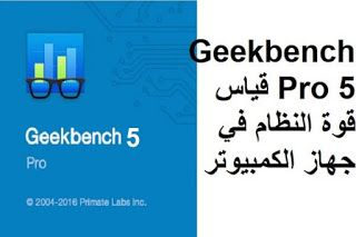 Geekbench Pro 5 قياس قوة النظام في جهاز الكمبيوتر
