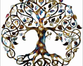 Infinity Tree Tree Of Life Metal Wall Art Metal Tree Art Family Tree  Mothers Day Gift Wedding Gift House Warming Gift | Great Gift Ideas |  Pinterest | Metal ...
