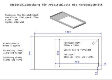 Gastro Blechdesign Sonderanfertigung Kuchenarbeitsplatte Aus Edelstahl Edelstahl Arbeitsplatte Arbeitsplatte Stahl