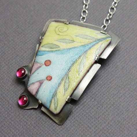 Enamel Pendant One of a Kind Pendant Artisan Jewelry Enamel | Etsy
