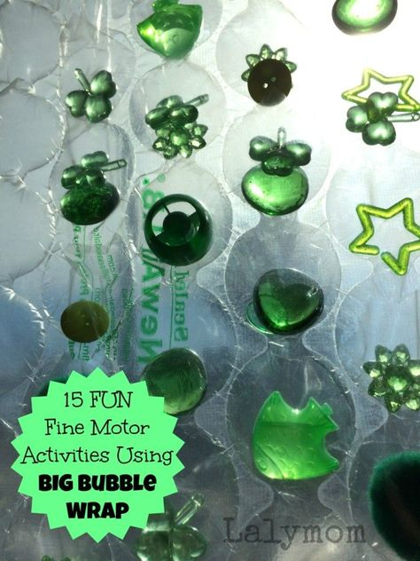 Fine Motor Activities Using Big Bubble Wrap from Lalymom