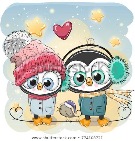 Image by Shutterstock Cute Sketch Baby Penguins Love Men/'s Tee