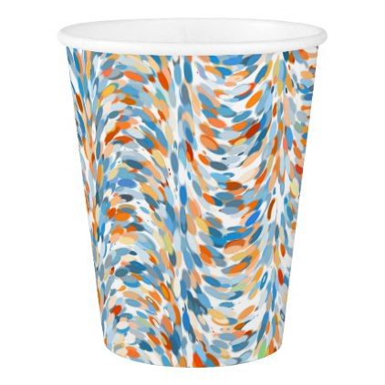 Artsy Summer Colors Paint Splatter Art Pattern Paper Cup
