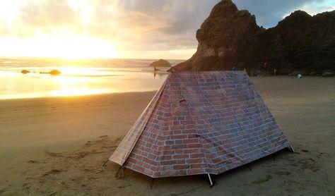 FieldCandy Bricks /& Mortar Unisex Waterproof Festival /& Camping Rain Poncho