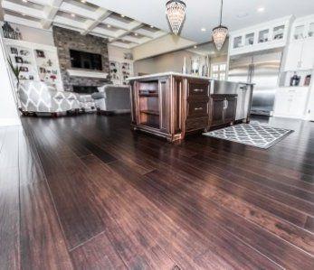Coffee Handscraped Solid Strand Bamboo Floor Bamboo Flooring