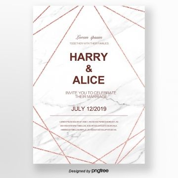 Geometric Figure Originality Wedding Invitation Rose Gold White Letter Concise Li Lettering Watercolor Flowers Wedding Invitation Rose Gold Wedding Invitations