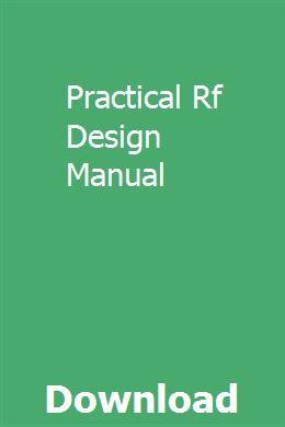 Practical Rf Design Manual pdf download full online