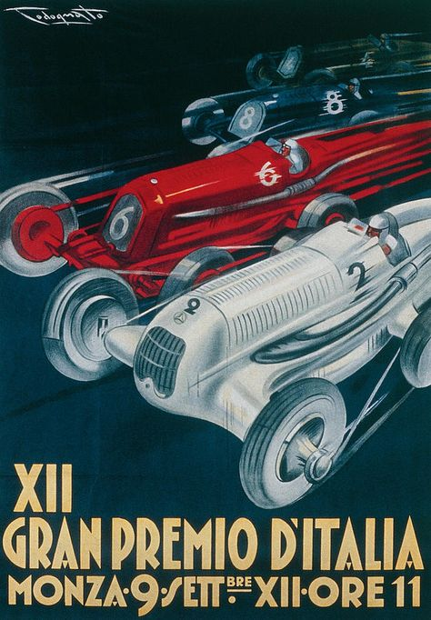 Castrol Reproduction 1927 TT Victory Race Poster