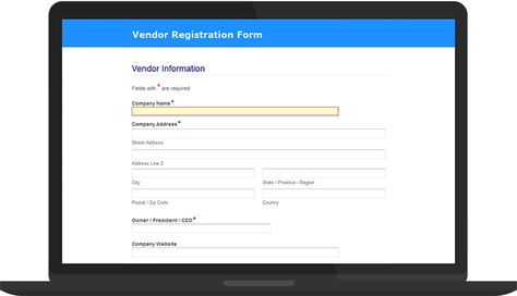 Loved by school boards, ECM software helps digitize student - vendor registration form