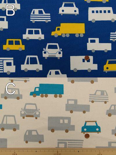 コットンオックスフォードプリント君のクルマ 車 イラスト イラスト ノート デザイン